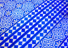 Oriental Blue and White Pattern stock photo