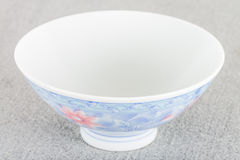 Oriental bowl. Empty Oriental bowl on a granite background royalty free stock photo