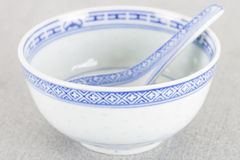 Oriental bowl. Empty Oriental bowl on a granite background Stock Photos