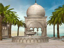 Oriental building by the sea Royalty Free Stock Photo