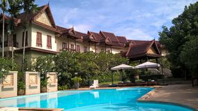Oriental buildings in a Khao Yai resort, Thailand Royalty Free Stock Images