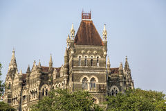 Oriental buildings in Mumbai, India Royalty Free Stock Images