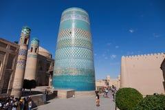 Kalta Minor minaret in Khiva, Khorezm Region, Uzbekistan royalty free stock photos
