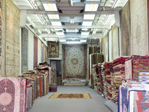 Oriental carpet shop Royalty Free Stock Image