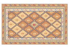 Oriental carpet vector Royalty Free Stock Photo