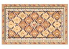 Oriental carpet vector. Oriental carpet on brown color, vector royalty free illustration