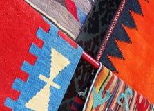 Oriental carpets in  market. Stock Photo