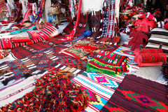 Oriental carpets in Wakif souk in Doha Qatar stock images