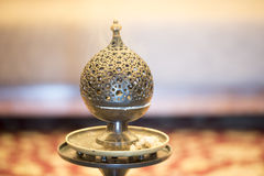 Censer burner. Iron made oriental incense holder Royalty Free Stock Photos