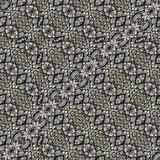 Oriental Check Ornate Seamless Pattern Royalty Free Stock Images
