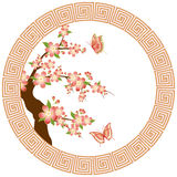 Oriental cherry blossom wallpaper Stock Image