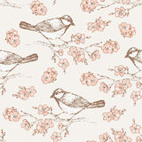 Oriental cherry pattern 4 stock illustration