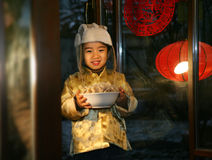 Oriental Child in Festival Royalty Free Stock Images