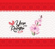Oriental Chinese new year 2017 background.  Stock Photos