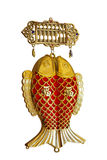 Oriental Chinese new year twin fish ornaments for decoration on Royalty Free Stock Photography