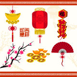 Oriental Chinese New Year Vector Design Royalty Free Stock Photography