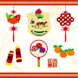 Oriental Chinese New Year Vector Design Royalty Free Stock Images