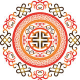 Oriental chinese ornament asian traditional pattern floral vintage element cut silhouette ornament central asia applique Stock Photography