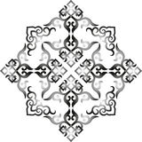 Oriental chinese ornament,. Vector oriental chinese ornament, asian traditional pattern,  floral vintage element, cut silhouette, ornament central asia, applique Stock Photos