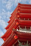 Oriental Chinese pagoda tower Royalty Free Stock Photos