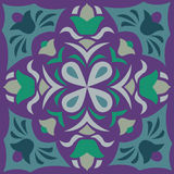 Oriental Chinese traditional flower square pattern Royalty Free Stock Photography