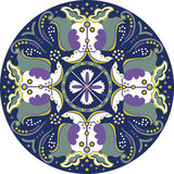 Oriental Chinese traditional lotus flower butterfly circle pattern Stock Photography
