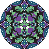 Oriental Chinese traditional lotus flower circle pattern Royalty Free Stock Photography