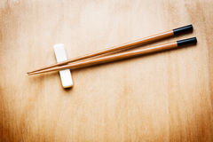 Oriental Chopstick on wood table. Oriental Chopstick on wooden table stock images