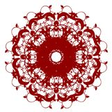Oriental circle flower pattern Royalty Free Stock Photo