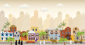 Oriental city Stock Photos