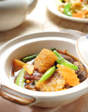 Oriental clay-pot sea cucumber dish Royalty Free Stock Image