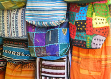 Oriental colorful bags Royalty Free Stock Photos