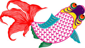 Oriental colorful fish Stock Image