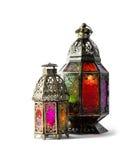 Oriental colorful light lantern Arabic decoration Stock Photo