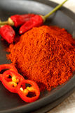 Oriental colorful mix of fresh and dry chilli pepper Royalty Free Stock Photo