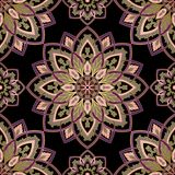 Oriental colorful pattern. Oriental filigree pattern of mandala. Vector colorful background. Template for textile, carpet, wallpaper, shawls Stock Images