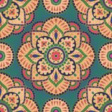 Oriental colorful pattern. Oriental filigree pattern of mandala. Vector colorful background. Colorful template for textile, carpet, wallpaper, shawls Royalty Free Stock Images