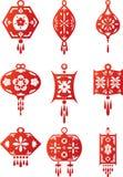 Oriental contemporary lanterns design set Stock Photography
