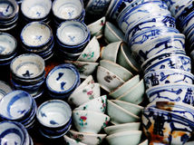 Oriental crockery Royalty Free Stock Image
