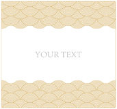 Oriental curve wave pattern frame Royalty Free Stock Images