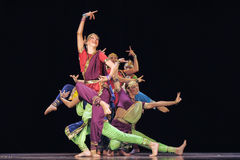 Oriental dance children perform on stage Royalty Free Stock Photos