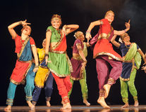 Oriental dance children perform on stage Stock Image