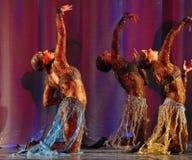 Oriental dance on stage Stock Photos