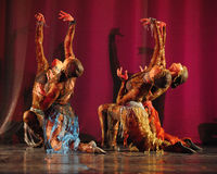 Oriental dance on stage Royalty Free Stock Photos