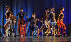 Oriental dance on stage Stock Image
