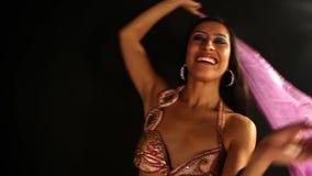 Oriental dancer stock video