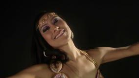 Oriental dancer stock video footage