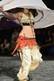 Oriental dancer in motion Stock Image