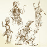 Oriental dancers Stock Photo
