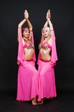 Oriental dancers Stock Photos